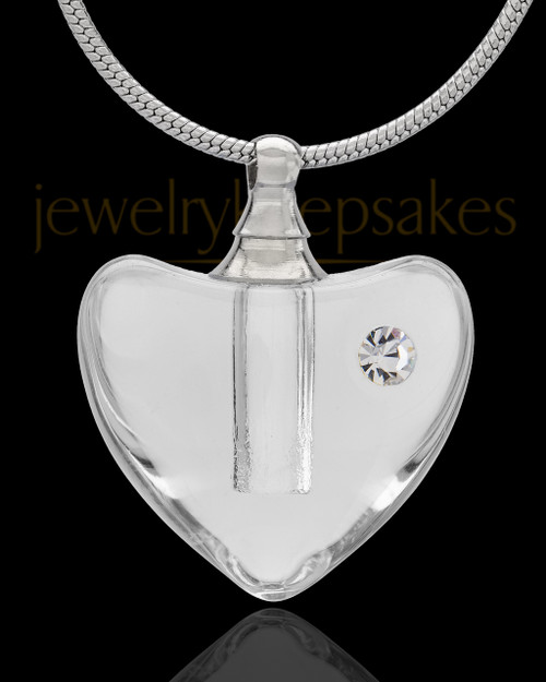 Urn Necklace Clear So Loved Glass Locket