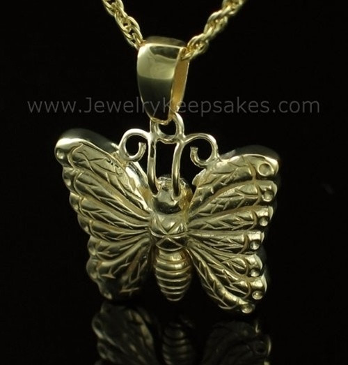 Memorial Urn Jewelry Gold Plated Twinkle Butterfly