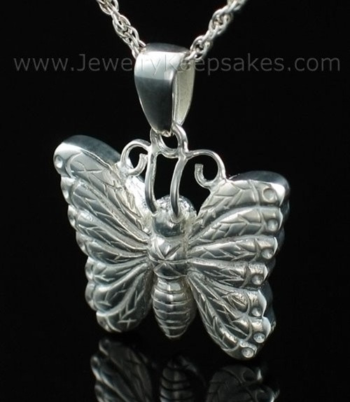 Memorial Urn Jewelry Sterling Silver Twinkle Butterfly