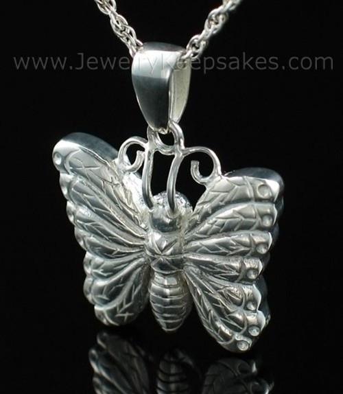 Memorial Urn Jewelry Sterling Silver Twinkle Butterfly