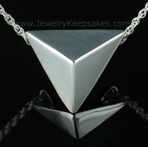 Jewelry Urn Triangle Keepsake in Sterling Silver