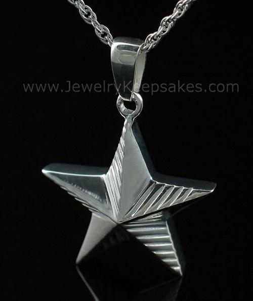 Memorial Keepsake Jewelry Sterling Silver Military Star