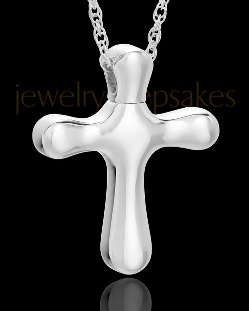 Keepsake Pendant Kester Cross Keepsake - Solid 14K White Gold
