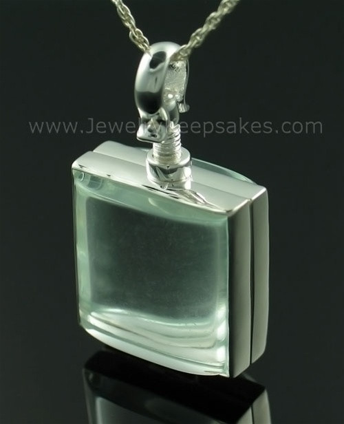 Cremation Keepsake Square Glass Memorial Locket