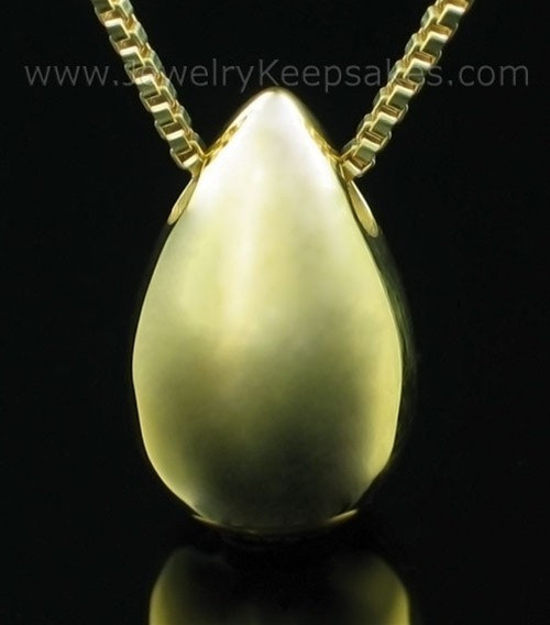 Cremation Locket Gold Vermeil Teardrop