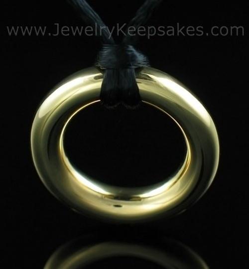 Cremation Pendant Gold Vermeil Eternity