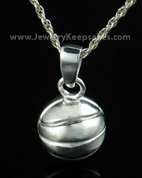 Memorial Jewelry Sterling Silver Basketball