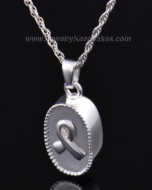 Ashes Pendant Breast Cancer Keepsake Sterling Silver