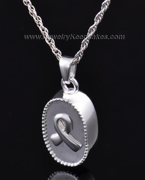 Ashes Pendant Breast Cancer Keepsake Sterling Silver