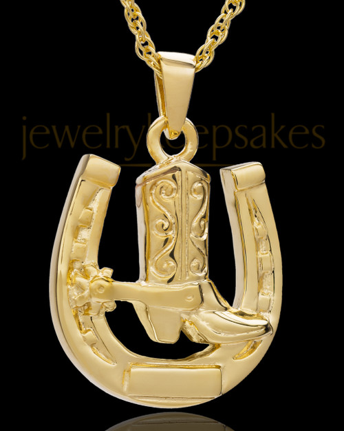 Memorial Pendant 14K Gold Giddy Up