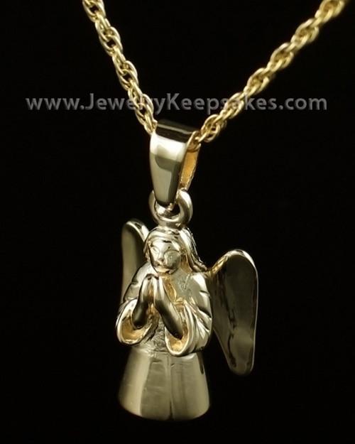 Cremation Keepsake Gold Plated Praying Angel