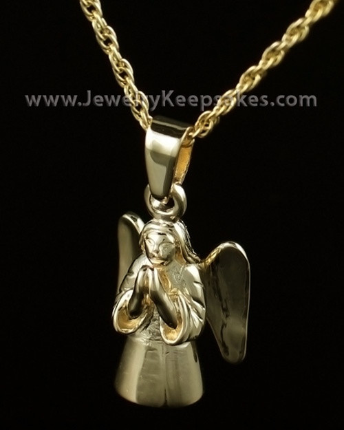Cremation Keepsake Gold Plated Praying Angel