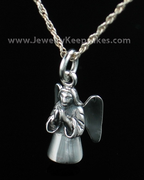 Cremation Keepsake Sterling Silver Praying Angel