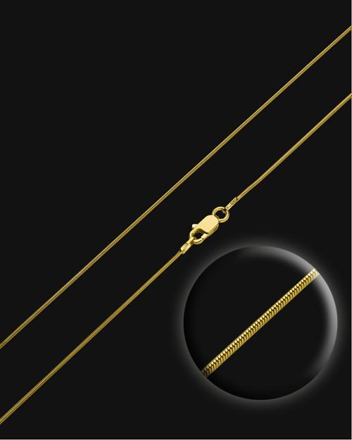 """18"""" Gold Premium Snake Chain"""