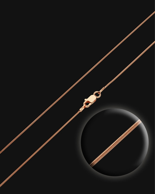 "24"" Rose Gold Premium Snake Chain"