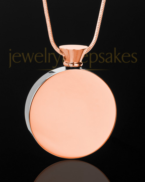Rose Gold Abounding Circle Memorial Keepsake
