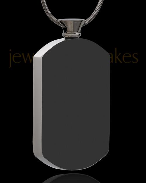 Black Stunning Stainless Rectangle Cremation Keepsake