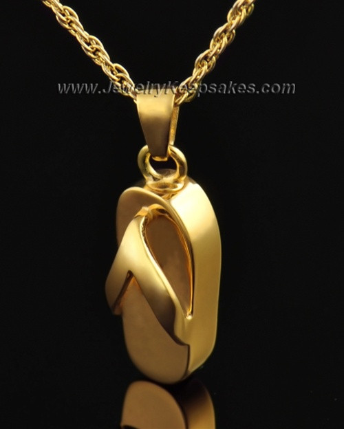 Gold Plated Summer Days Sandal Cremation Necklace