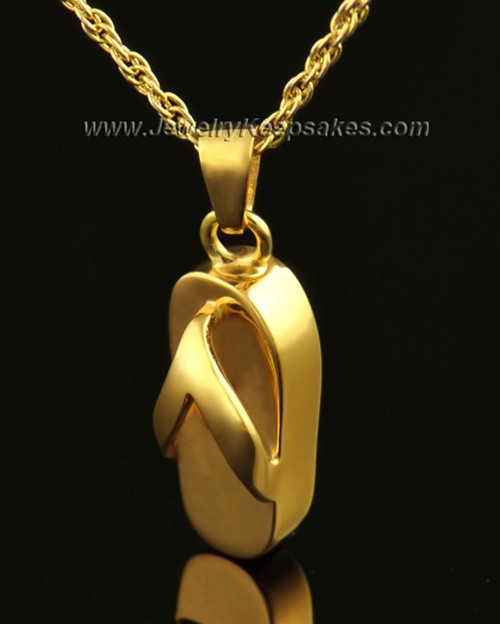 14k Gold Summer Days Sandal Cremation Necklace