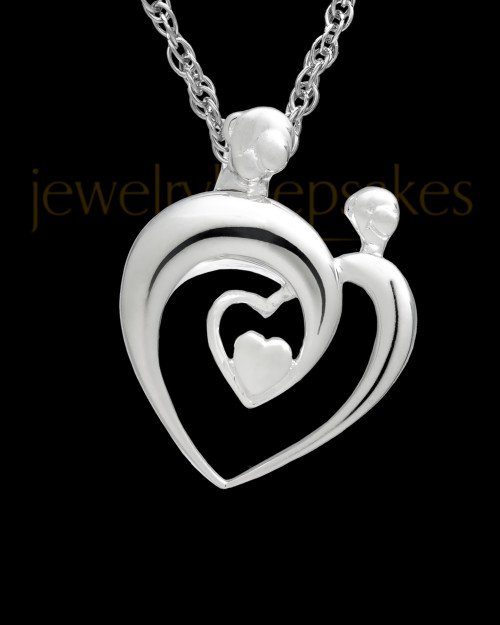 Cremation Keepsake Sterling Silver Heartfelt Keepsake