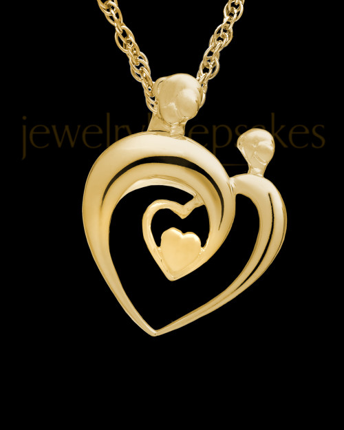 Cremation Keepsake Gold Plated Heartfelt Keepsake