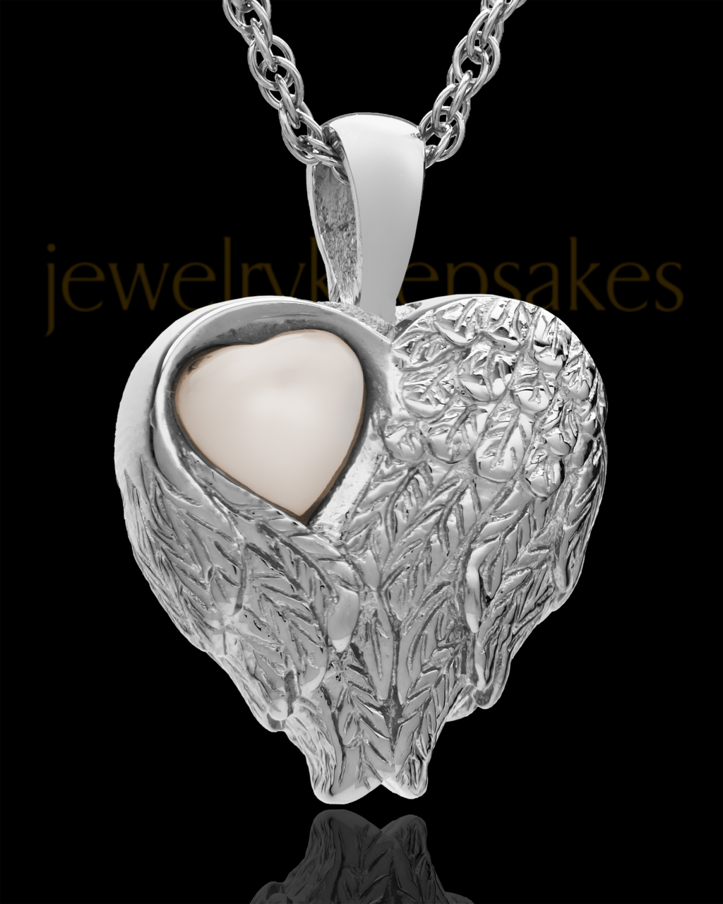 544dc47c45e4 Silver Forever Loved Heart cremation urn necklace and heart keepsake ...
