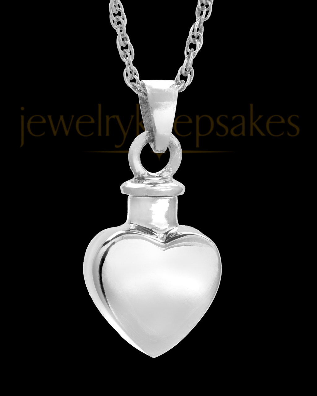 14k White Gold Small Heart Pendant