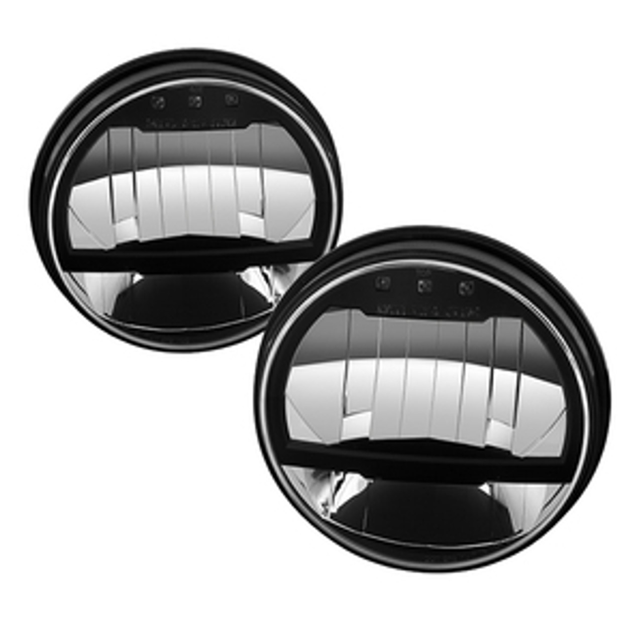 NEW FOR 2018 SPYDER CRYSTAL HEADLIGHTS HD-YD-JW07-LED-BK. SOLD IN PAIRS.