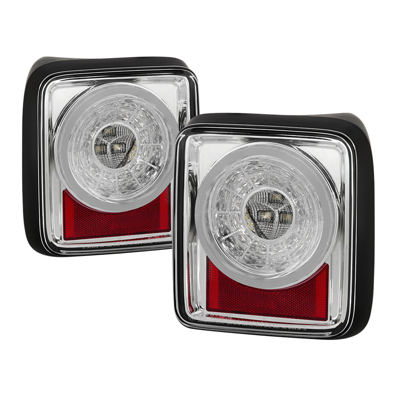 JEEP WRANGLER JL-JLU SPYDER CHROME CLEAR SEQUENTIAL LED TAIL LIGHTS