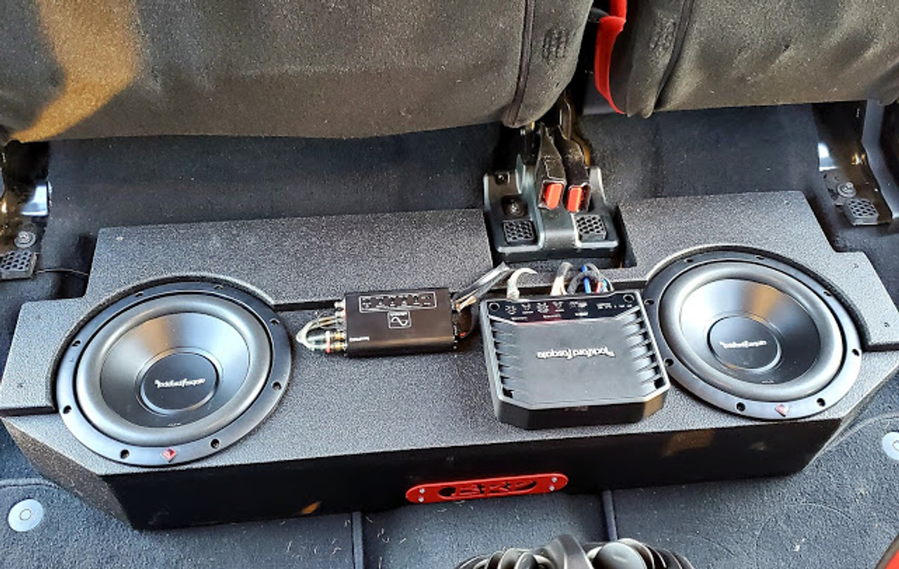 Jeep Gladiator Complete Bass Combo #3 (Subwoofer Box, Subwoofer, Amplifier, Wiring Kit And Output Converter)