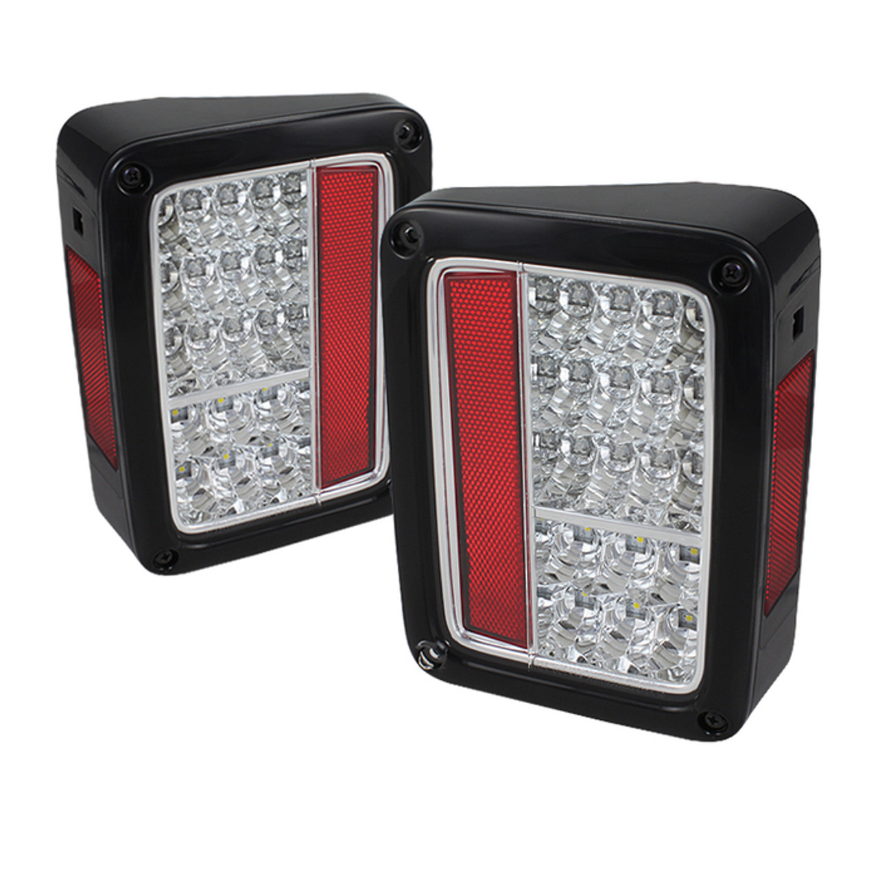 SPYDER CHROME LED TAIL LIGHTS. SOLD IN PAIRS.