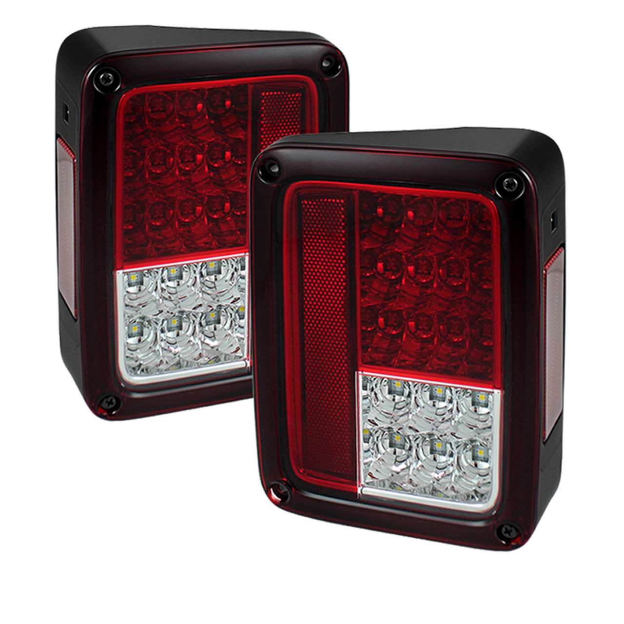 SPYDER RED CLEAR LED TAIL LIGHTS. SOLD IN PAIRS.
