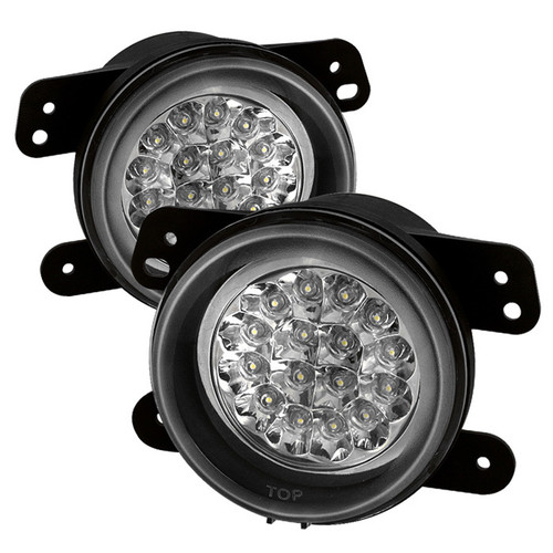 Jeep Wrangler Jk-Jku 07-18 Spyder Auto LED Fog Lights