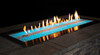 Outdoor Stainless Steel Linear Fire Pit - Multicolor LED Lighting - OL60TP18P