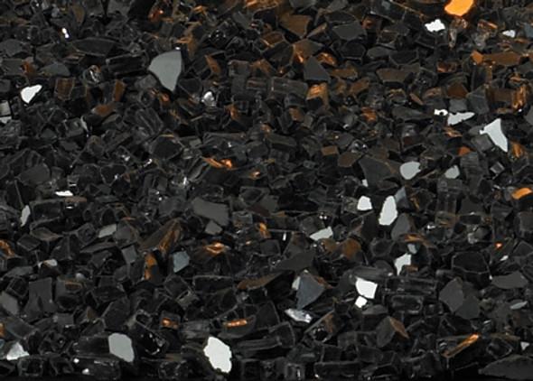 Decorative Crushed Glass Black Polished DG1BKP