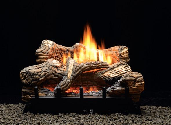 "Empire Flint Hill Gas Log Set with Vent-Free/Vented Contour Burner 24"" Millivolt"