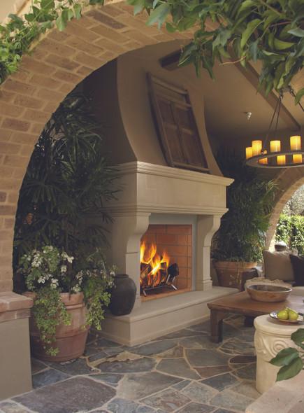 """36"""" Masonry Wood Burning  Fireplace,  Full Stacked Brick WRE6036"""