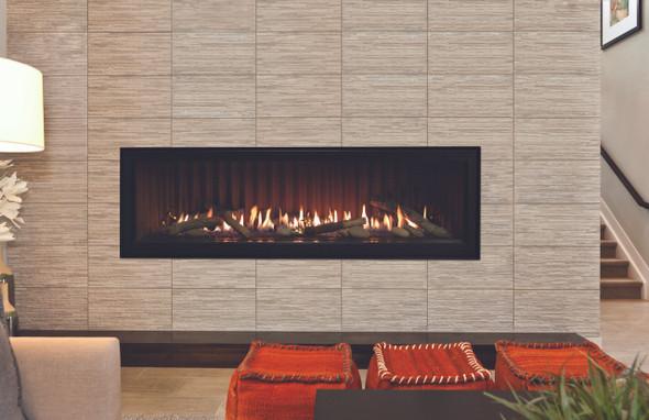"DVLL60BP90 Boulevard Direct-Vent Linear Contemporary Fireplace 60"""