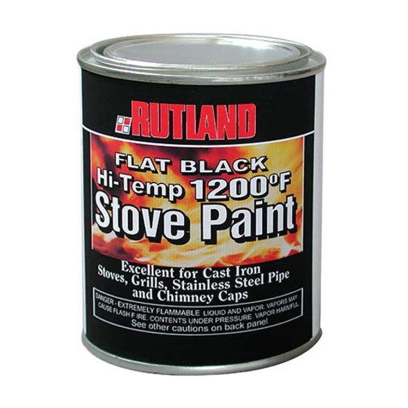 High-quality, specially formulated paint resists peeling and blistering when subjected to temperatures up to 1200 degree Fahrenheit.  Renews and protects the finish on steel or cast iron.  Dries fast.  Perfect for cast iron stoves, barbeque grills, stainless steel pipe, and chimney caps.  Brush on, 16 fl oz, 6/cs, 7 lbs.