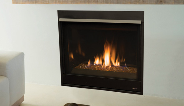 "DRC3535DE 35"" Direct-Vent Fireplace, Top/Rear Combo"