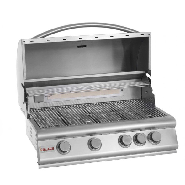 BLZ-4 Blaze 32 Inch 4-Burner Built-In Gas Grill With Rear Infrared Burner
