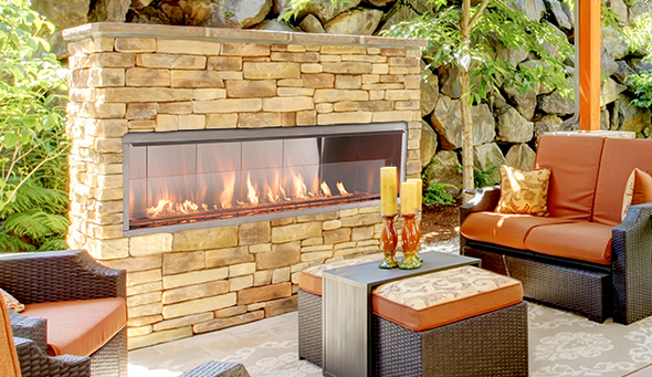 """SUPERIOR VRE4648 OUTDOOR LINEAR FIREPLACE 48"""""""