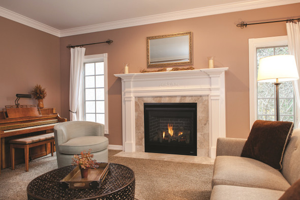 """DRT3045DEN-C  45"""" DIRECT VENT FIREPLACE, ELECTRONIC IGNITION, AGED OAK LOGS , TOP/REAR NATURAL GAS"""