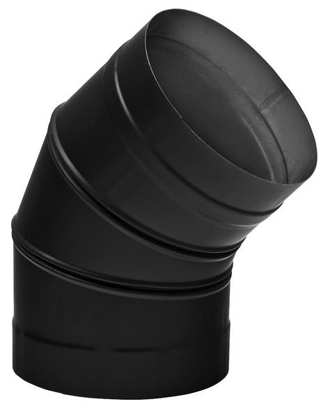 "SINGLE WALL BLACK 6"" X 45 DEG ELBOW  6SW45"
