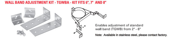 "TEMP GUARD 2100 DEG 6"" WALL BAND ADJUSTMENT KIT TGWBA"