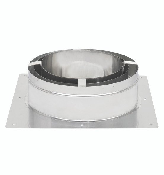 """13"""" ECO-STEEL INSULATED CHIMNEY FLUE (STAINLESS STEEL) Anchor Plate - SS  13INECOAP"""