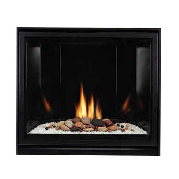 Tahoe Clean Face Direct Vent Fireplace, Contemporary 36 - IP, Black Porcelain Liner - DVCC36BP72