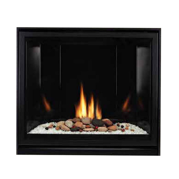 Tahoe Clean Face Direct Vent Fireplace, Contemporary 42, Millivolt with On/Off Switch, Black Porcelain Liner - DVCC42BP32
