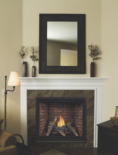 Tahoe Clean Face Direct Vent Fireplace, Premium 42 Millivolt with On/Off Switch - DVCP42BP30