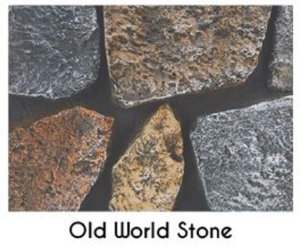 Rushmore Clean Face Direct Vent Fireplace, See Through 40 TruFlame Technology Liner, Old World Stone - DVP40PSWS